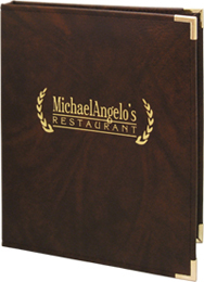 Captain's Book Menu Cover