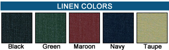 Linen Menu Cover Color Swatches