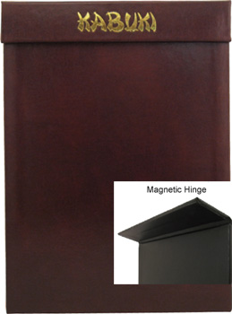 Textured Hard Bound Menu Covers in many exciting colors and textures.