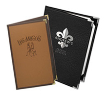 Stitched Edge Menu Covers