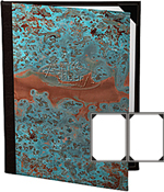 Two View Patina Copper Menu Covers 4.25 X 11