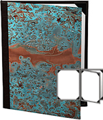 Patina Copper Menu Covers 4.25 X 11
