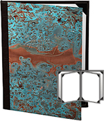 Six View Patina Copper Menu Covers 4.25 X 11
