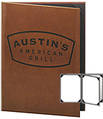 Leather Menu Cover 4.25 X 11