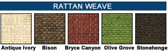 Rattan Menu color swatches